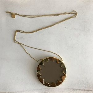House of Harlow Sunburst Long Pendant Necklace